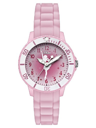 s.Oliver - SO-2593-PQ - Montre Fille - Quartz Analogique - Bracelet Silicone Rose