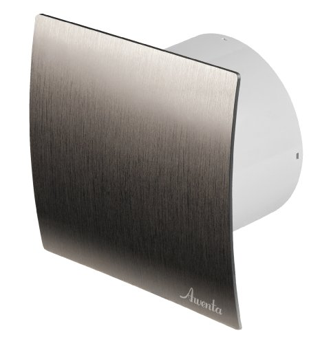 Badlüfter Ø 100 mm silber gebürstet WES Lüfter Ventilator Deckenlüfter Front Wandlüfter Badventilator Ventilator Einbaulüfter Bad Küche Standart