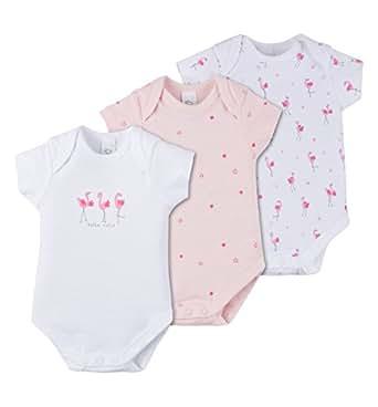 C&A Baby Mädchen Bodies 3-er Pack aus Bio-Baumwolle Flamingo-Print