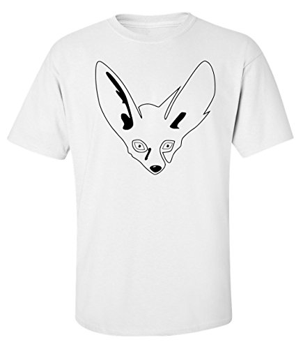 Fox portrait sad stencil Men's T shirt Weiß