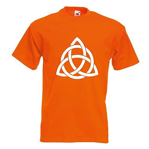 KIWISTAR - Triquetra T-Shirt in 15 verschiedenen Farben - Herren Funshirt bedruckt Design Sprüche Spruch Motive Oberteil Baumwolle Print Größe S M L XL XXL Orange