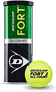 Dunlop Fort All Court Tennis Balls, Set of 3 Piece DL601315 per can