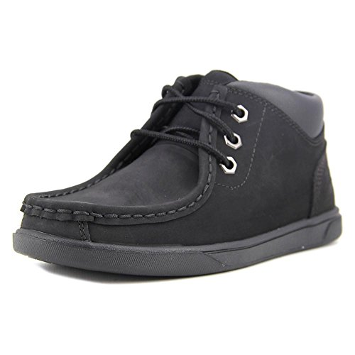 Timberland Kids Boy's Groveton Leather Moc Toe (Little Kid) Black Boot 2 Little Kid M Timberland Moc Toe