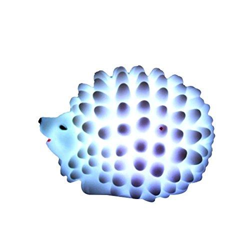 LED colorido de la manera LED de colores que cambian la novedad del erizo noche de la lámpara de luz