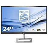 Philips 248E9QHSB 24' Gaming Monitor Curvo Freesync 75 Hz LED IPS FHD, Ultra Wide Color, 4ms, 3 Side Frameless, Low Blue Mode, Flicker Free, HDMI, VGA, VESA, Nero