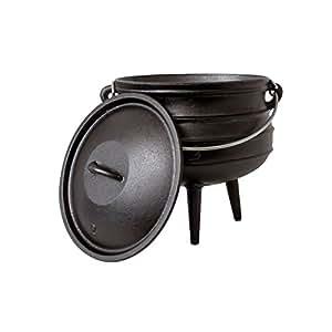 big bbq potjie 2 s dafrikanischer gusseisen koch topf alternative zum dutch oven gr e. Black Bedroom Furniture Sets. Home Design Ideas