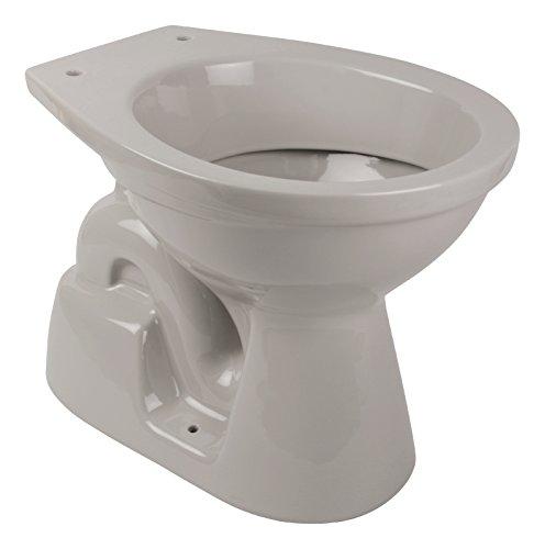 \'aquaSu® Stand-WC | Tiefspüler | Abgang innen senkrecht | Manhattan | Grau | Toilette | Stand-WC | Klo |Keramik | Gäste-WC | Bad | Badezimmer