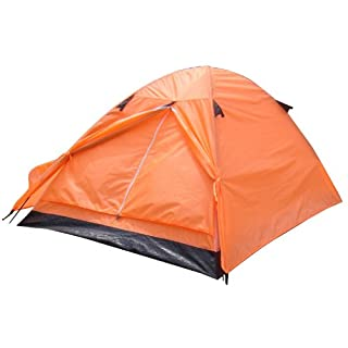 Azuma 2 Man Neon Orange Double Skin Summer Festival Camping Outdoor Dome Tent
