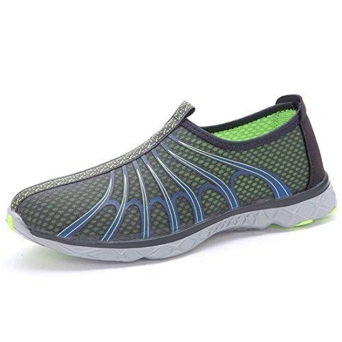 Men's Beach Mesh Lightweight Slip On Running Shoes gray
