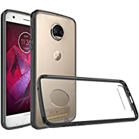 """Moto Z2 Force Case, Lbsel Solid Acrylic&Soft TPU Hybrid Armor Defender Protective CellPhones Cases Bumper Shell Cover for Motorola Z2 Force [5.5""""inch][Black][1-Pack] 2017"""