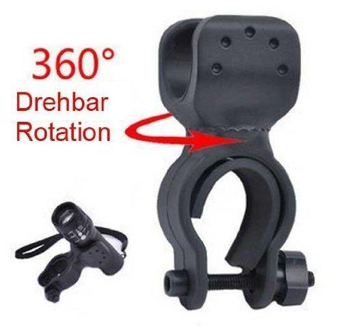 Weeton - Soporte linterna bicicleta rotación 360º