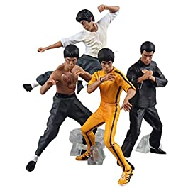 ParZ 4PCS Cool Bruce Lee Kung Fu Action PVC Figure Collection Giocattoli 2019 Recentemente in Scatola