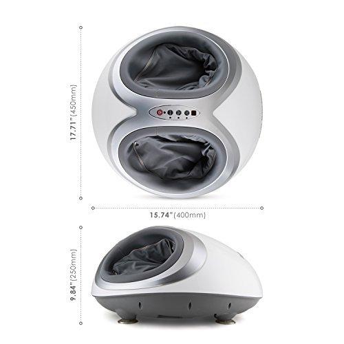 Amzdeal Foot Massager with Heat Option Shiatsu Air Pro White