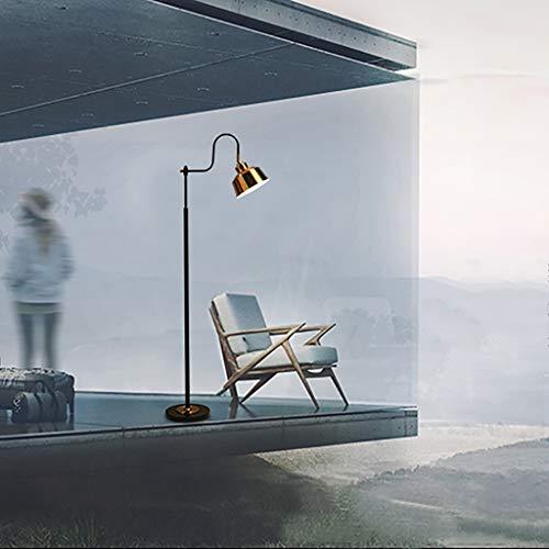 Hohe Schwarz Gold Angeln Stehlampe, Nordic Wohnzimmer Lesen Schlafzimmer Arbeitszimmer Büro Metall Stehleuchte, Einzigartige Multi-Winkel Anpassung Lampshade and Design Standleuchten