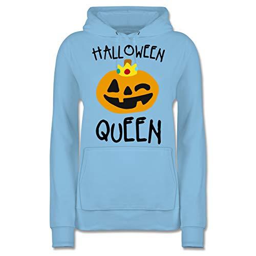 Shirtracer Halloween - Halloween Queen Kostüm - S - Hellblau - JH001F - Damen Hoodie