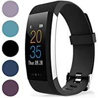 Proworks Fitness Tracker, Touch Screen Activity Fitness Watch & Pedometer Step Counter with Heart Rate Monitor, Calorie Counter, Route Tracking, Notifications | iPhone & Android Compatible