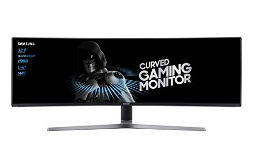 Samsung C49HG90DMU 124,20 cm (49 Zoll) LED Multitasking Monitor (2x HDMI, Display Port, Mini-Display Port, USB, 3840 x 1080 Pixel) mattschwarz