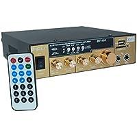 Amplificador Audio Estéreo 2Canales Bluetooth USB SD MP3Karaoke bt-158