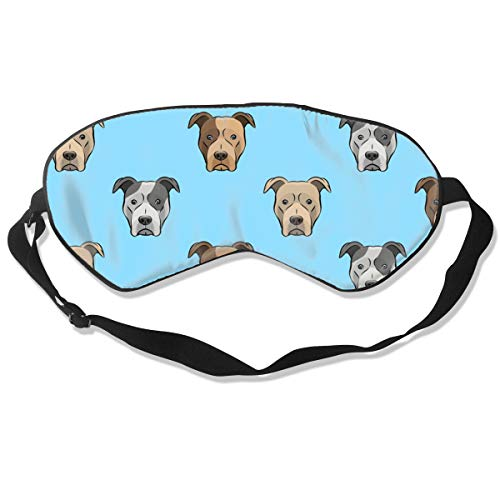 Blue Pit (Pit Bulls On Blue C18BS Breathable Pure Silk Sleep Eye Mask Best Sleeping Eye Cover for Travel, Nap, Blindfold with Adjustable Strap for Men, Women or Kids)