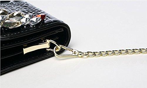 Sacchetto di sera delle signore del banchetto coreano, borsa, borsa delle signore, borsa di modo, piccola borsa ( Colore : Nero ) Oro