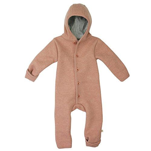Disana Walk-Overall, Farbe rosé, Größe 86/92 aus 100% bio-Schurwolle/ Futter 100% bio-Baumwolle