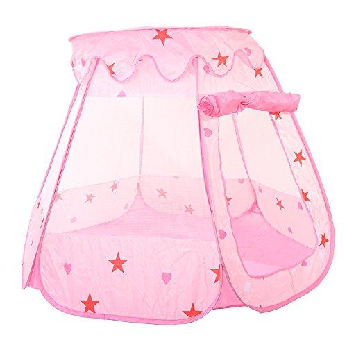 Chendongdong Kinder Prinzessin Bällebad Spielzelt Krabbeltunnel Kleinkind Sensorische Ball Pit Spiel Haus Anti-Moskito Zelte im Freien 120 * 90 * 70CM (nicht mit Kugeln) (Prinzessin Kleinkind-zelt)