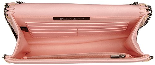 SwankySwansWinona Chain Faux Leather Clutch Bag Tan - Sacchetto donna Pink