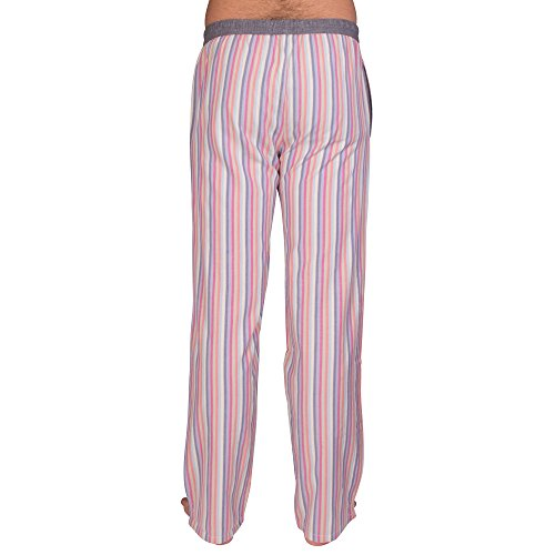 Pyjama-Hose von LUCA DAVID Olden Glory mit bequemem, weitem Schnitt und cooler Vintage-Optik aus 100% super weicher Baumwolle Bunt Gestreift