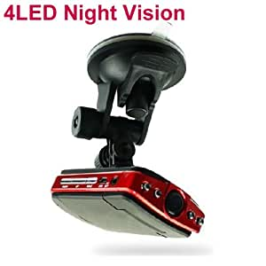 "BlueLotus® 2.5"" TFT LCD 120 Degrees 1280x960 Car Dvr Record Camera + 4 LED Light Night Vision + Motion Detection"