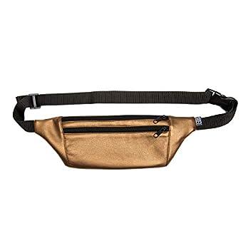PP-BERLIN Bauchtasche flach gold bronze | handgemacht & vegan | Gürteltasche Kunstleder | Hip Bag flach | Gold Fanny Pack | Hüfttasche Damen & Herren