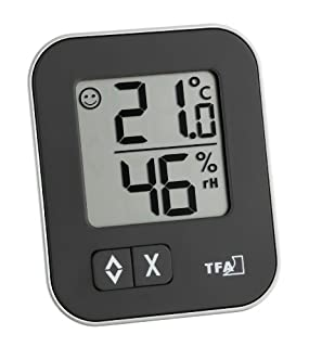 TFA Dostmann Moxx digitales Thermo-Hygrometer, 30.5026.01, zur Raumklimakontrolle, Überwachung der Luftfeuchtigkeit, klein und handlich, 1er Pack, schwarz (B007SAM4E0) | Amazon price tracker / tracking, Amazon price history charts, Amazon price watches, Amazon price drop alerts