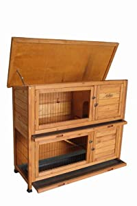 Wooden Rabbit Or Guinea Pig Easipet Hutch - Two Tier 339 from Easipet