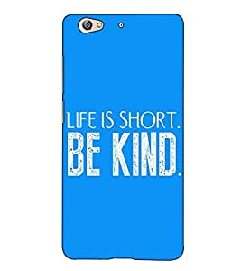 Fuson Designer Back Case Cover for Gionee S6 (Life is short theme)