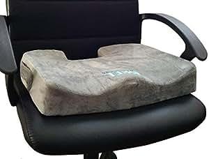 Bael Wellness Seat–Cuscino per dolore lombare, coccige e dolore sciatica, ortopedico grade Firm support- corregge la postura naturalmente. Misura perfetta per qualsiasi sedia e seggiolino auto.