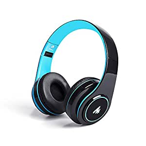 Maono AU-D422L Over-Ear Bluetooth Wireless Headphones with Built in Mic (Blue and Black)