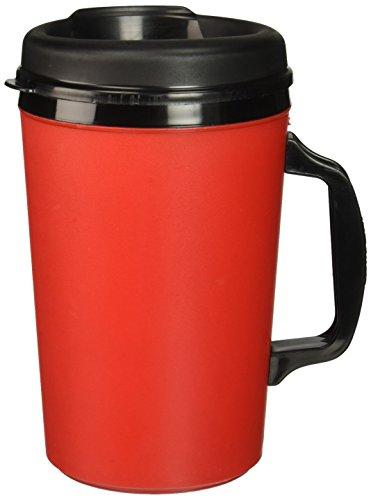 ThermoServ 20 oz caffè termiche in schiuma isolante, colore: rosso
