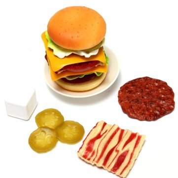 Generic Burger Eaters Stacked Layers Play House Kitchen Game Toys