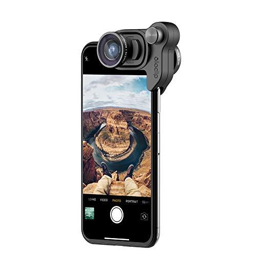 Olloclip Mobile Photography Box Set per iPhone X I Lenti fisheye, super-grandangolare e macro 15x - Lente/Clip Nera