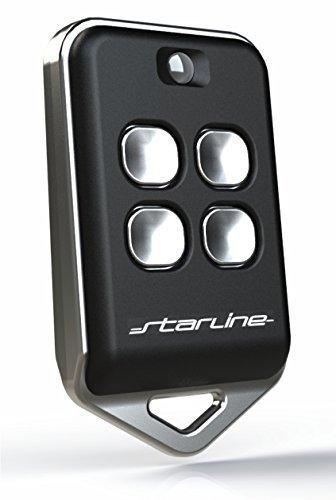 Mando distancia universal para duplicar los mandos originales frecuencia 433 MHz (433.92 ) CÓDIGO FIJO. (no códigos rotativos)  MADE IN EU. De largo alcance, funciona a 200m de distancia.larga duración de la batería (negro)