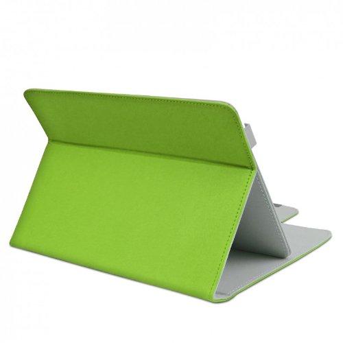 ROYALZ Schutz Tasche für Alcatel 1T 7 Hülle Schutzhülle Case Cover Schutztasche Stand-Funktion Leder-Optik, Farbe:Grün