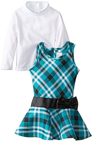 TEAL PLAID WHITE DRESS - 4YRS TOP NEU - Für Youngland Mädchen Outfits