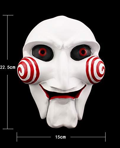 YAJAN-masks Máscara de Halloween Motosierra de Terror Máscara de Tema de película Edición de colección Máscara de Resina 3D