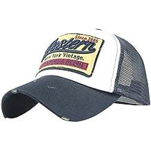 Fossen Verano Vintage Sombrero con Viseras Western Malla Gorras Beisbol Para Hombres Mujeres