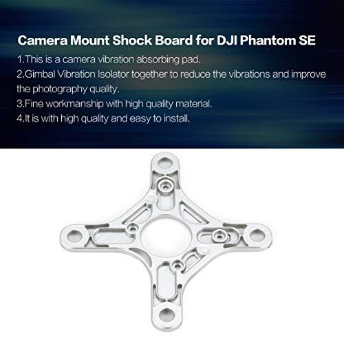 Footprintse Gimbal Schwingungsdämpfer Platte Kamera Mount Geschwindigkeit Stoßabsorbierendes Board für DJI Phantom SE Drone Ersatzteile Zubehör-Farbe:Silber