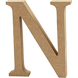 Large Wooden Letters Amazon Large 130mm Wooden Mdf Letter Shape To Decorate N Wood