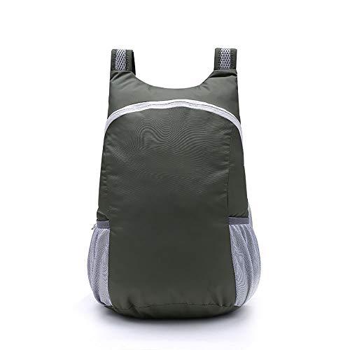 HJDQ Folding Zaino - Impermeabile Ultra Leggero Packable Zaino Trekking Daypack Piccolo Zaino Pratico Pieghevole Zaino di Campeggio Esterna, ArmyGreen