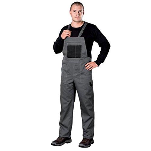 Arbeitslatzhose Latzhosen Latzhose Arbeitshose multifunktion Hose Arbeitskleidung versch. Farben Gr. 46-62 (50, grau)