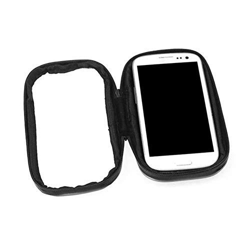 6SlonHy Wasserdicht einstellbar Motorrad Fahren Rückspiegel montieren Handyhalter Tasche Fall Schwarz L - Pvc-dusche-bett