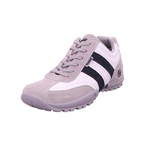 Dockers by Gerli Herren Sneaker aus Leder in grau schwarz komb