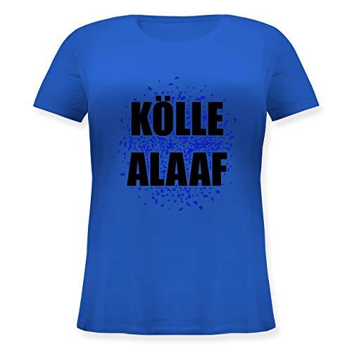 Karneval & Fasching - Kölle Alaaf blau - S (44) - Blau - JHK601 - Lockeres Damen-Shirt in großen Größen mit ()